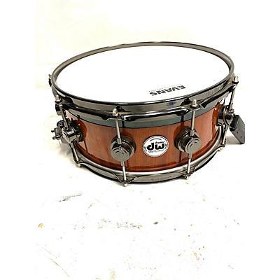 DW 14X6 Collectors Mahogany Maple VLT Top Edge Snare Drum