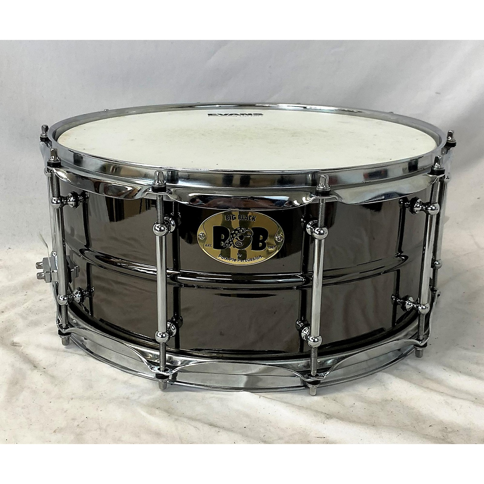 Pork Pie 14X6.5 Big Black BOB Brass Snare Drum
