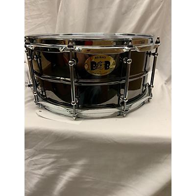 Pork Pie 14X6.5 Big Black Brass Snare Drum