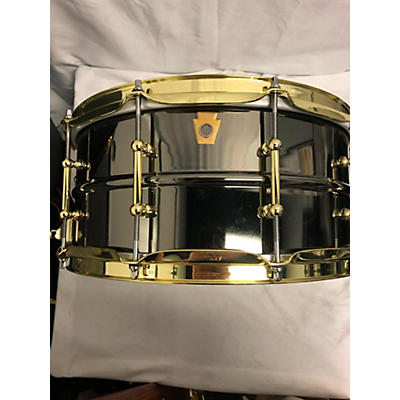 Ludwig 14X6.5 Black Beauty Snare With Brass Hardware Drum