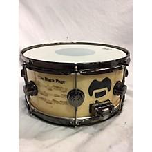 "DW 14X6.5 COLLECTORS Series Icon Terry Bozzio ""The Black Page"" Drum"