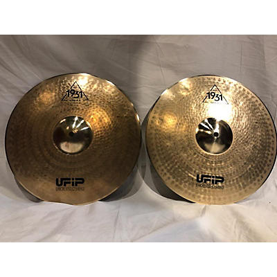 "UFIP 14in 1931 Series 14"" Hi Hat Pair Cymbal"