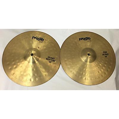 Paiste 14in 200 Series Hi Hat Pair Cymbal