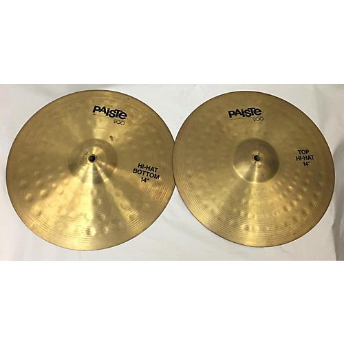 Paiste 14in 200 Series Hi Hat Pair Cymbal 33