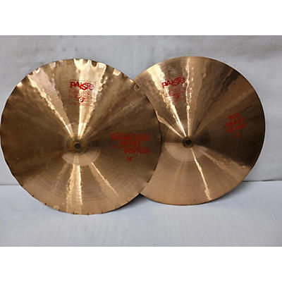 Paiste 14in 2002 HEAVY TOP SOUND EDGE HI HAT PAIR Cymbal