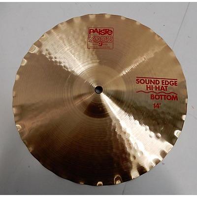 Paiste 14in 2002 Sound Edge Hi Hat Bottom Cymbal