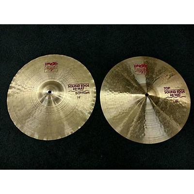 Paiste 14in 2002 Sound Edge Hihats Cymbal