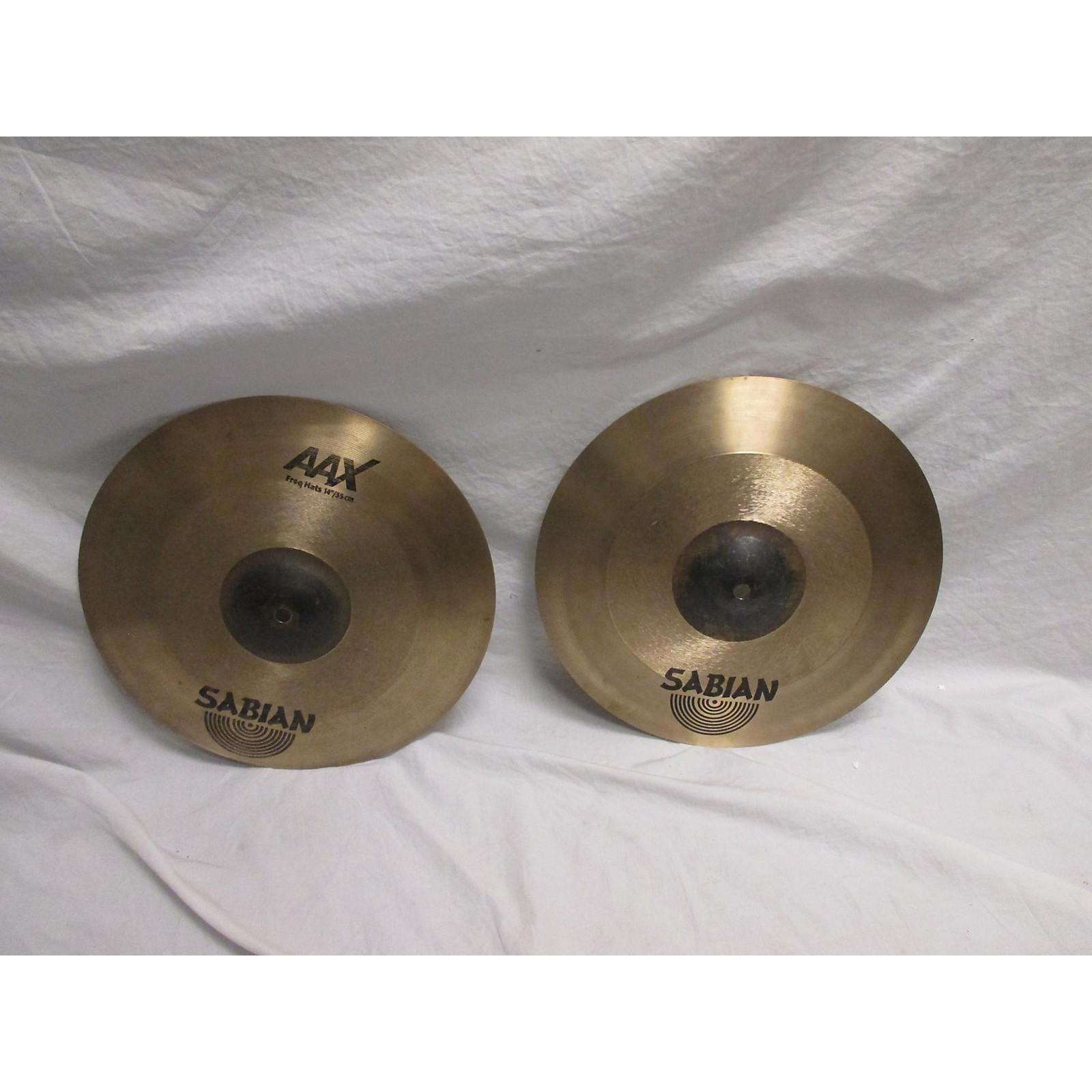 Sabian 14in AAX FREQUENCY HI HAT PAIR Cymbal