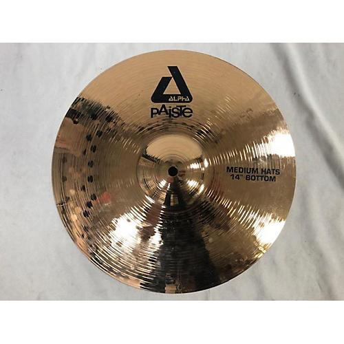 Paiste 14in Alpha Medium Hi Hat Bottom Cymbal 33