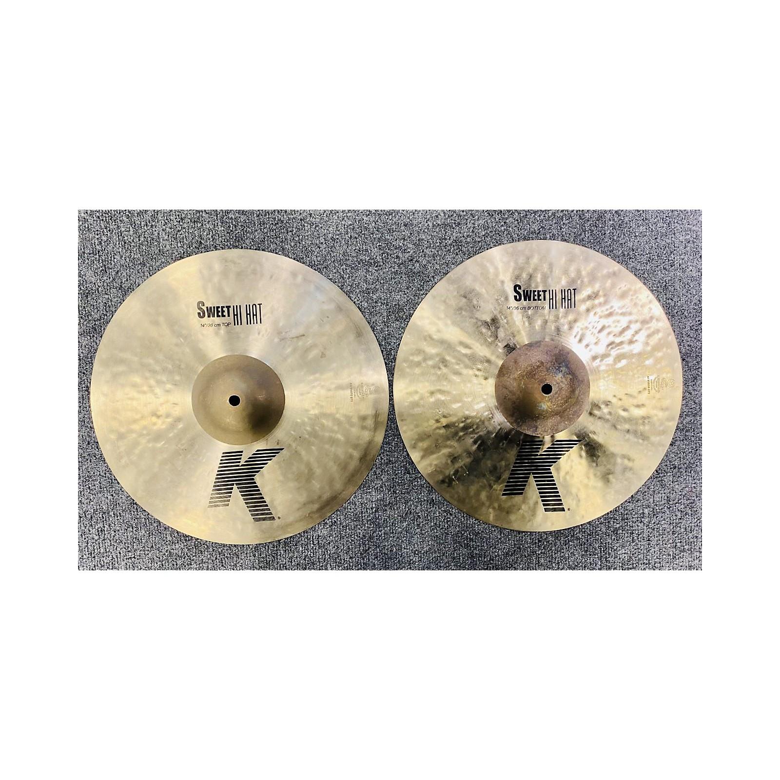 Zildjian 14in K Sweet Hi-Hat Pair Cymbal