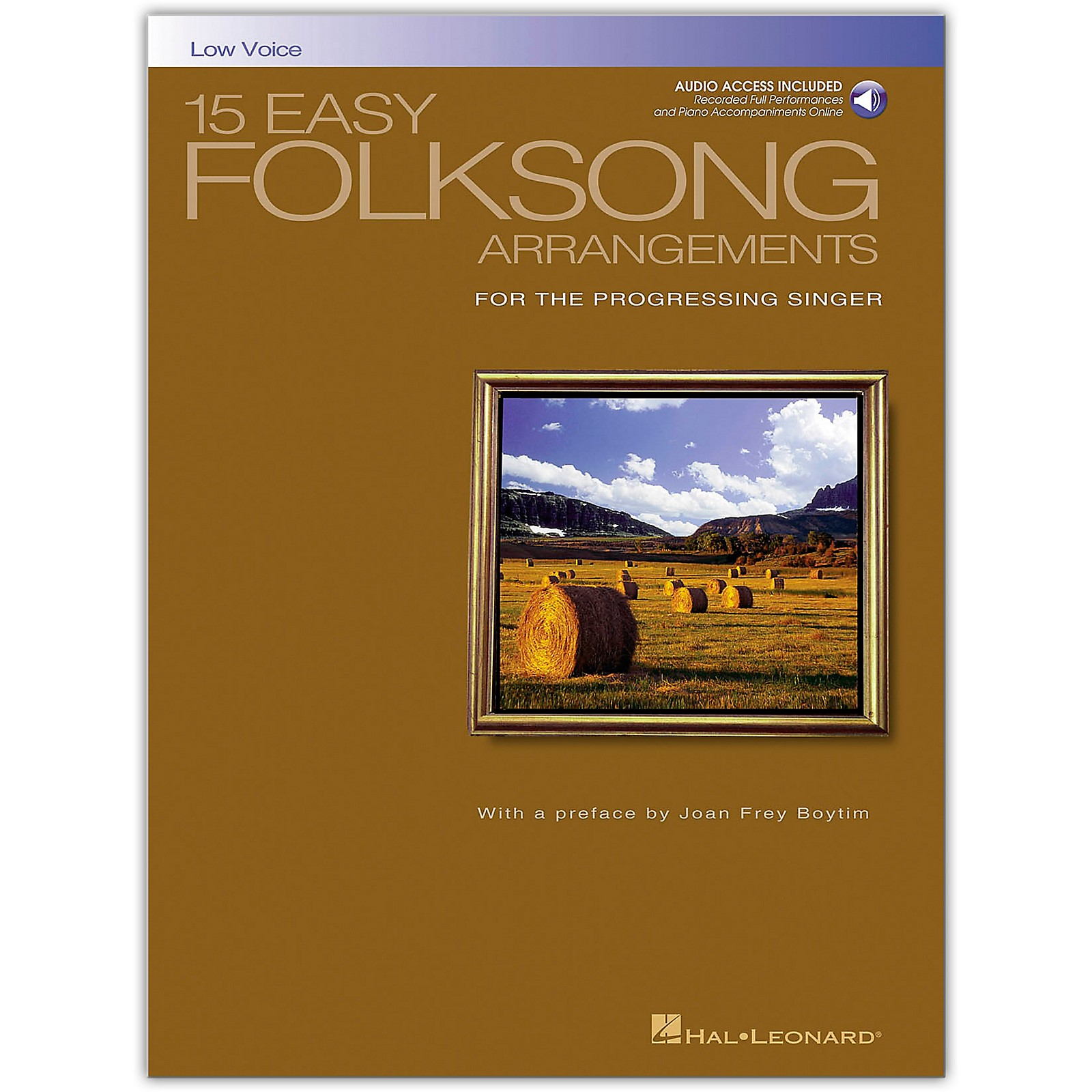 Hal Leonard 15 Easy Folksong Arrangements for Low Voice (Book/Online Audio)