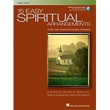 Hal Leonard 15 Easy Spiritual Arrangements for High Voice Book/CD