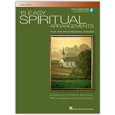 Hal Leonard 15 Easy Spiritual Arrangements for Low Voice Book/Online Audio