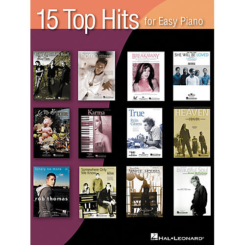Hal Leonard 15 Top Hits For Easy Piano 2005 Edition