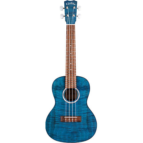 Cordoba 15CFM Flamed Mahogany Concert Ukulele Sapphire Blue