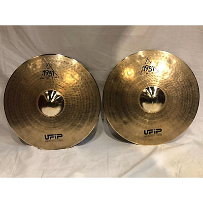 "UFIP 15in 1931 Series 15"" Hi Hat Pair Cymbal"