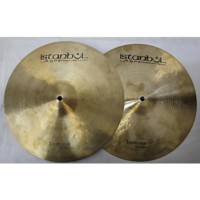 Istanbul Agop 15in Agop Traditional Medium Hi Hat Pair Cymbal