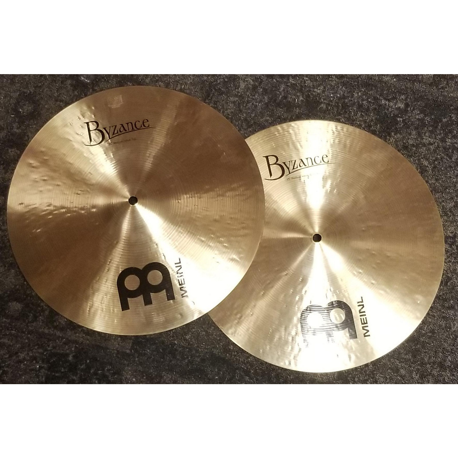 Meinl 15in Byzance Traditional Hi Hat Medium Pair Cymbal