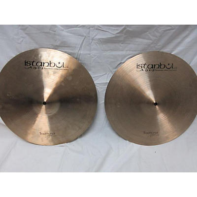 Istanbul Agop 15in TRADITIONAL LIGHT HIHAT PAIR Cymbal