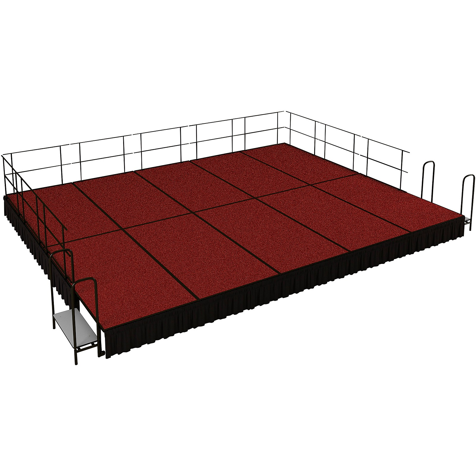 National Public Seating 16' x 20' Stage Package, 16