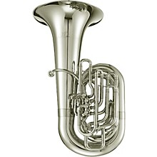 1680 Professional Series 5-Valve 4/4 CC Tuba Silver plated Yellow Brass Bell