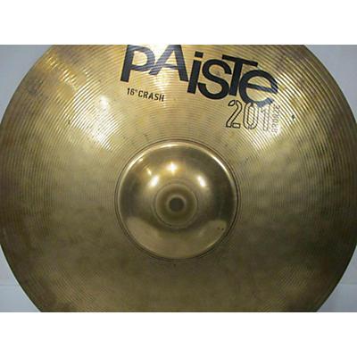 Paiste 16in 201 Bronze Crash Cymbal