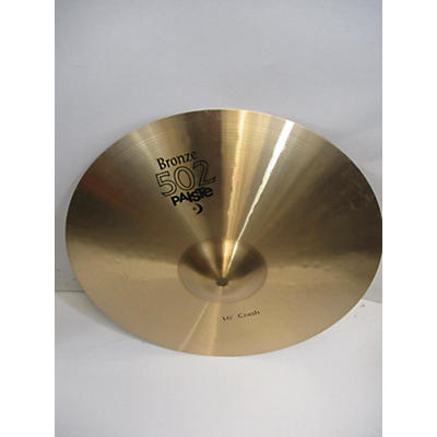 Paiste 16in 502 Bronze Crash Cymbal