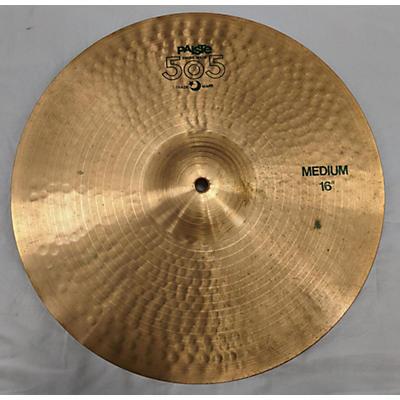 Paiste 16in 505 MEDIUM CRASH Cymbal
