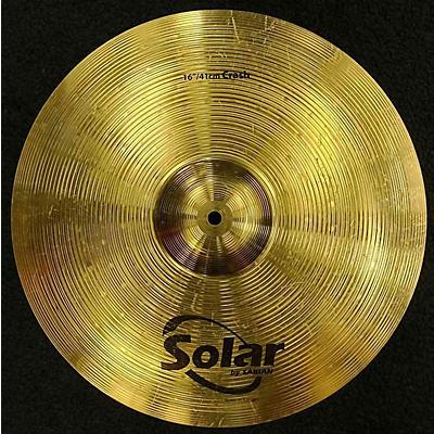 Solar by Sabian 16in CRASH Cymbal