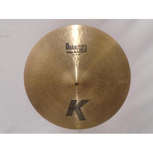 Zildjian 16in K Medium Dark Thin Crash Cymbal 36