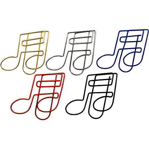AIM 16th Note Assorted Color Paper Clip Pack