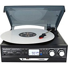 Boytone 17-Series Black 6-in-1 Home Turntable System