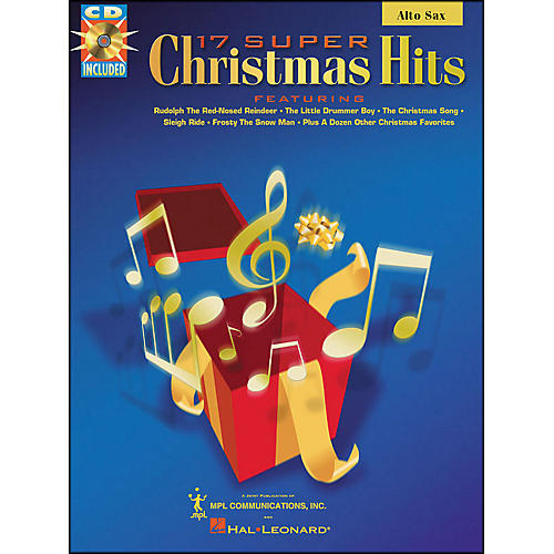 Hal Leonard 17 Super Christmas Hits Alto Saxophone Book/CD