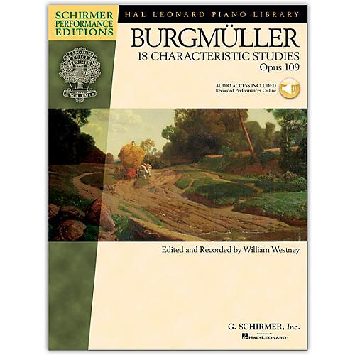 G. Schirmer 18 Characteristic Studies, Op. 109 - Schirmer Performance Edition Book/Online Audio By Burgmuller / Westney