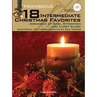 Carl Fischer 18 Intermediate Christmas Favorites - Trombone Book/CD