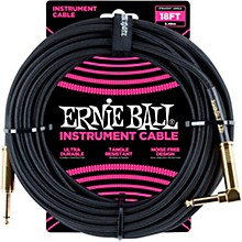 Ernie Ball 18' Straight to Angle Braided Instrument Cable