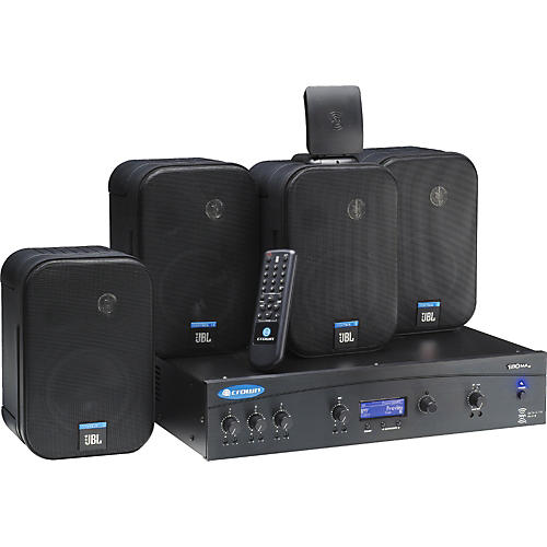 Crown 180MAxPACK Amplifier with 4 JBL Control 1ST Speakers