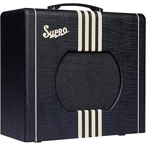 Supro 1820 Delta King 10 5W Tube Guitar Amp Black and Cream