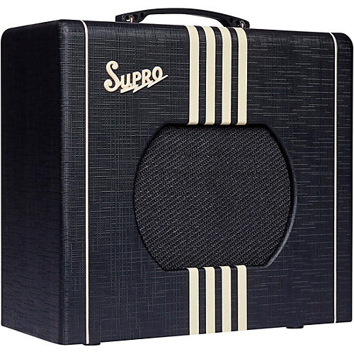 Supro 1820 Delta King 10 5W Tube Guitar Amp Condition 2 - Blemished Black and Cream 194744292668
