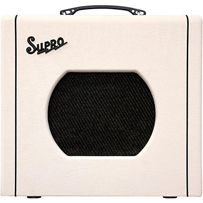 Supro 1820 Delta King 10 5W Tube Guitar Amp White