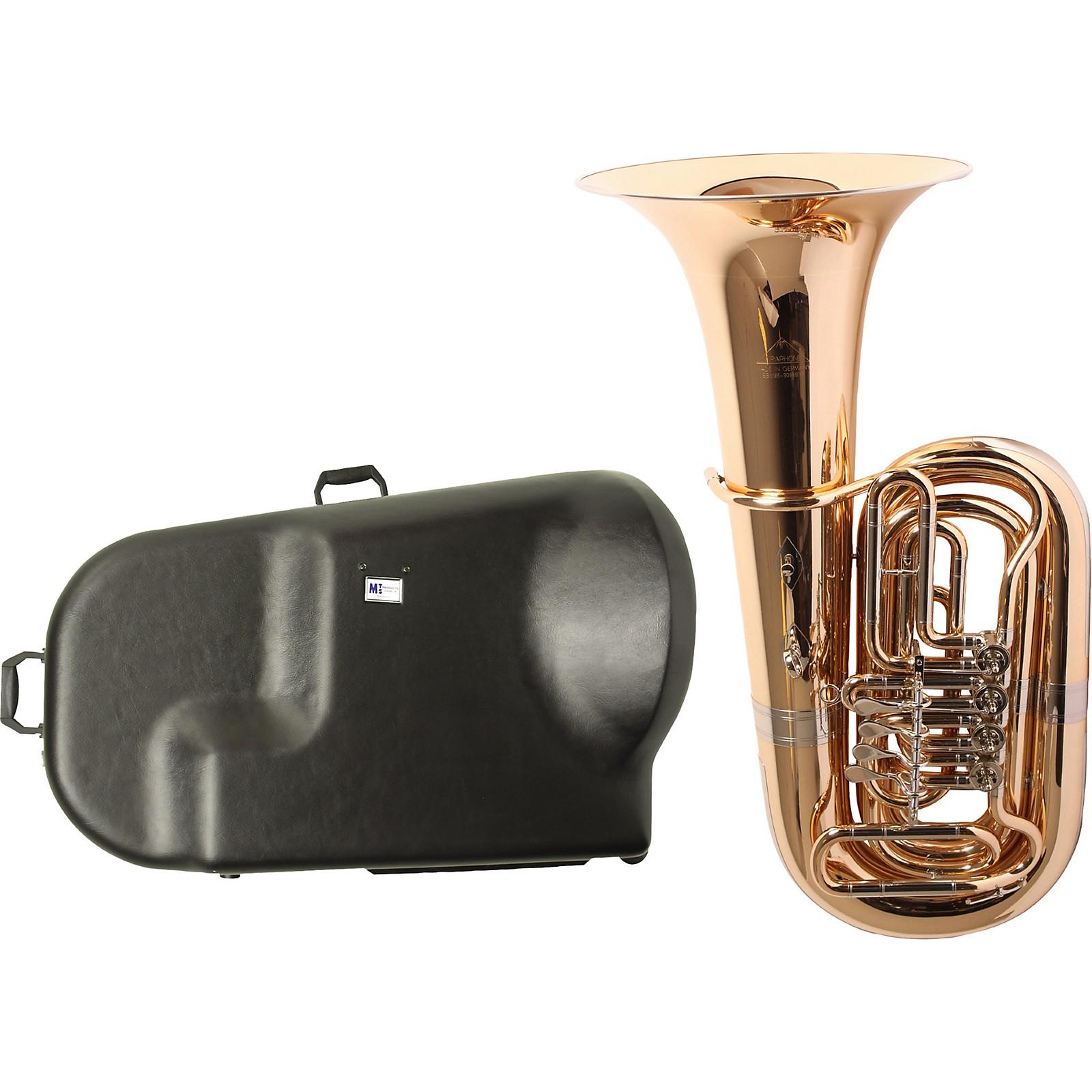 Miraphone 186-4U Series 4-Valve Gold Brass BBb Tuba with Hard Case