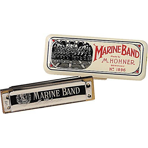 Hohner 1896/20 Marine Band Harmonica, Low and High Pitches