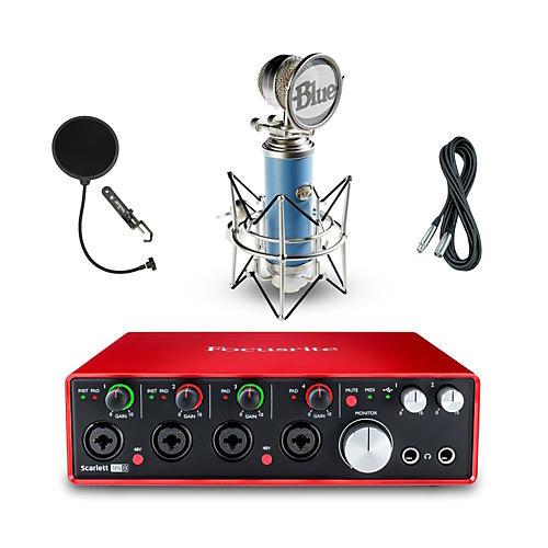 Focusrite 18i8 Recording Bundle with Blue Mic