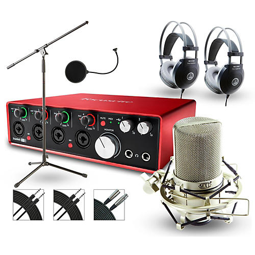 Focusrite 18i8 Recording Bundle with MXL Mic and AKG Headphones