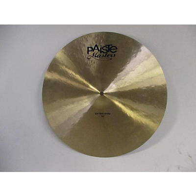 "Paiste 18in Masters Extra Thin 18"" Cymbal"