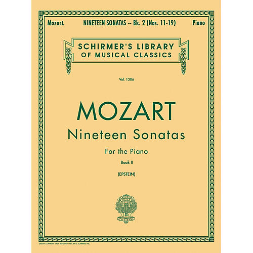 G. Schirmer 19 Sonatas for The Piano Book 2 English / Spanish Text By Mozart