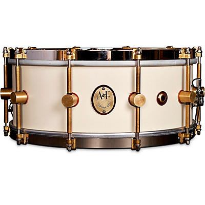 A&F Drum Co 1901 Limited Edition 14 x 6.5 in. Antique White Steam Bent Maple Snare