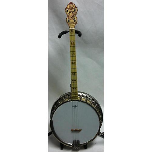 Bacon & Day 1920s Montana Silver Bell Tenor Banjo Banjo Antique White