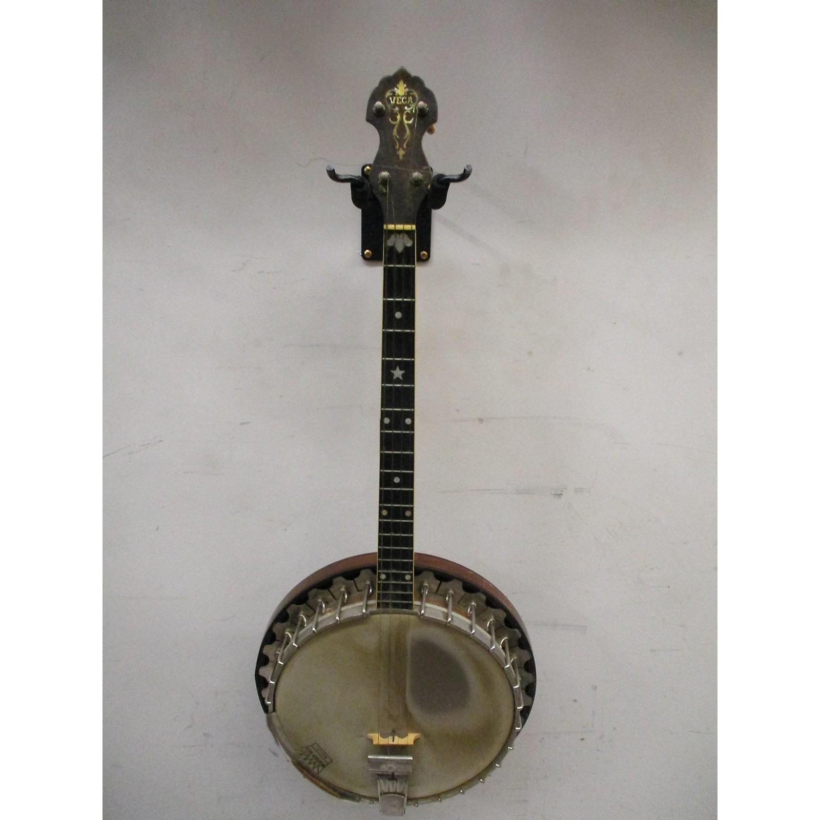 Vintage Vega 1930s Professional Tenor Banjo Banjo Natural