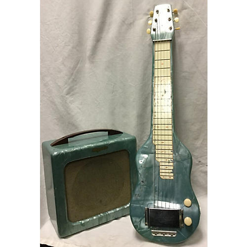 Magnatone 1950s Melodier Lap Steel teal marble